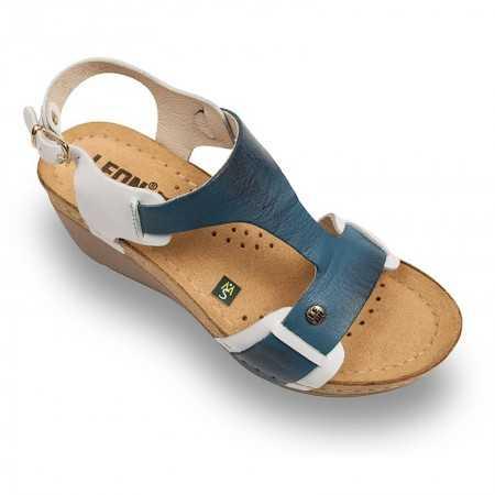 Sandale dama alb albastru 1010  - 1