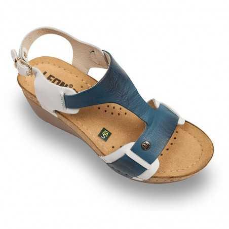 Sandale dama alb albastru 1010