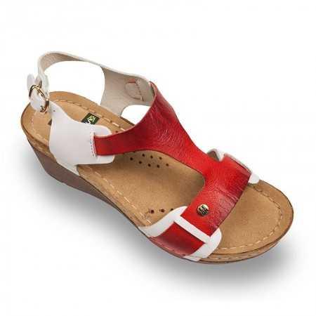 Sandale dama alb rosu 1010  - 1
