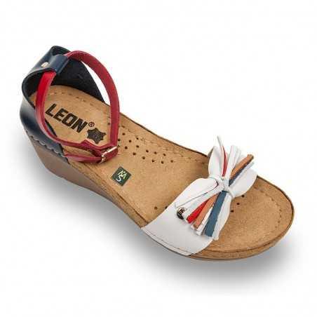 Sandale dama rosu alb albastru 1025