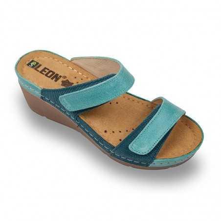Papuci medicali dama turcoaz albastru