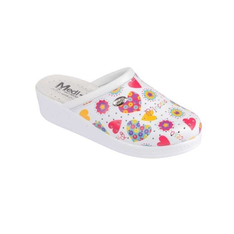 Saboti medicali dama floral alb princess 100SB  - 1