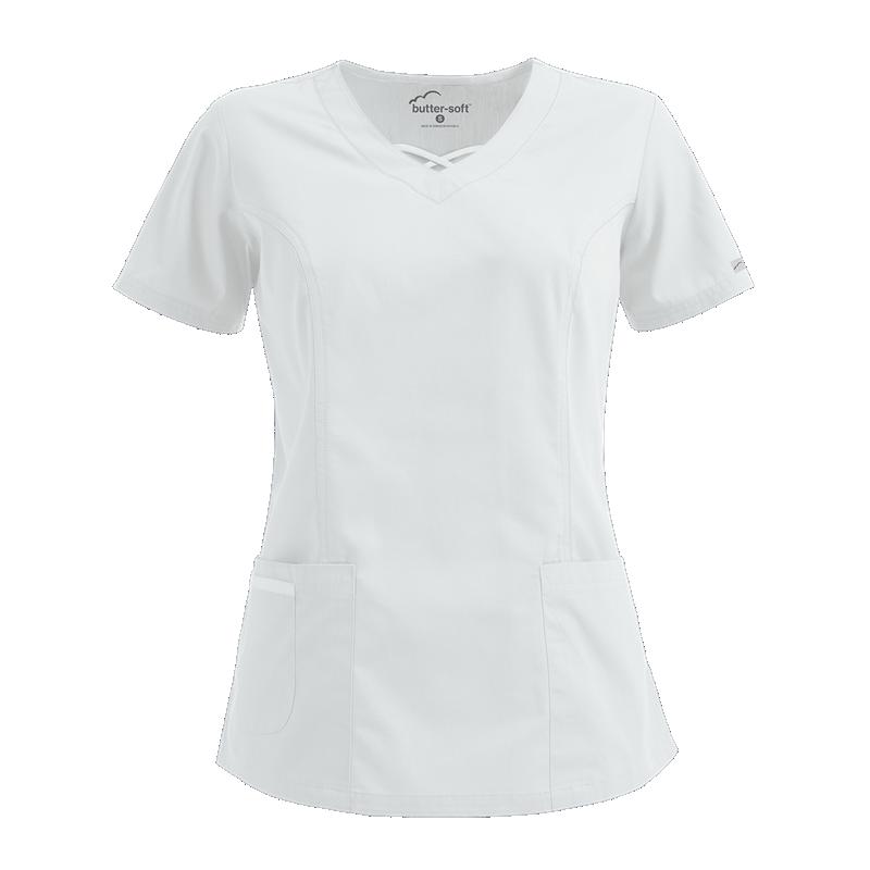 Bluza medicala alba reglabila  - 1