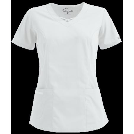 Bluza medicala alba reglabila