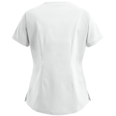 Bluza medicala alba reglabila  - 2