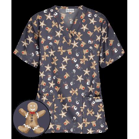 Bluza medicala cu imprimeu prajiturele de sarbatoare  - 1