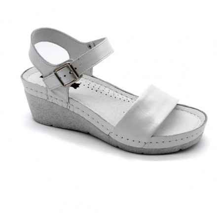 Sandale ortopedice, dama, alb