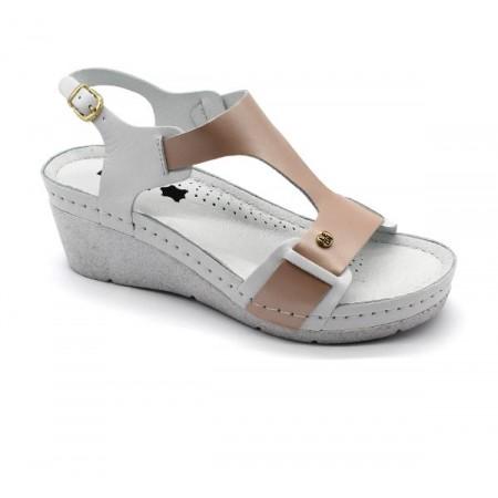 Sandale ortopedice, dama, somon