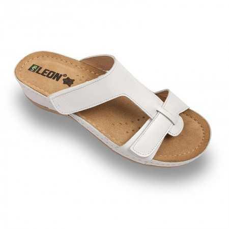 Papuci dama alb 914  - 1